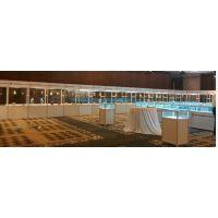 深圳货架出租 高矮展示柜出租 玻璃层板柜租赁