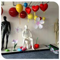 专业供应泡沫雕塑爱心 泡沫雕塑云朵 亚克力橱窗荷花道具