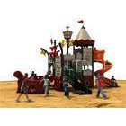 Kids Backyard Play Equipment With Color Animals , Outdoor Park Equipment