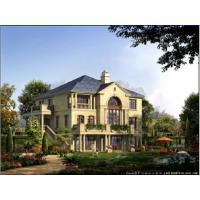 中式风格带小院高档四合院房屋cad图纸18.3x18.2米