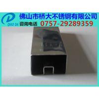 青岛304不锈钢方管单槽、拉丝不锈钢方管双槽(槽多大)