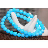 天然天河石手链价格 色泽较深蓝 巴西亚马逊石手链 优雅亮丽温馨
