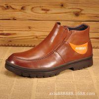 欧洲站高帮休闲皮鞋男头层牛皮打造欧美版真皮皮靴日常工作男靴子