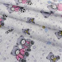 布料面料厂家直销可爱小熊图案纯棉布料价格合理卡通布料面料