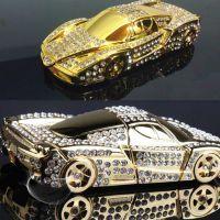 新款厂家直销金属镶钻法拉利车模汽车载摆件内装饰品 进口佰香岛