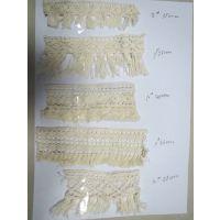 厂家现货供应二十多款本白棉线排须花边,可定制款式颜色
