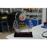 福州商会成立纪念品定制,商会揭牌仪式纪念品,水晶奖牌纪念品定做