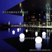 供应滚塑led草坪灯 户外草坪灯 遥控式 50cm球型灯
