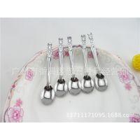 厂家直销  迷你型不锈钢 皇冠童匙 4号珠点匙 调料羹  热销小勺