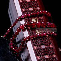 莎幽纯天然巴西进口老矿 红碧玺塔链项链 收藏级珍品