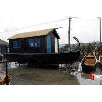 6米马尔代夫旅游船 欧式手划船 景区水上观光游船 观光摇橹木船