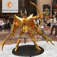 上海升美喷镀金黄金圣斗士模型玻璃钢雕塑展览美陈摆件定制