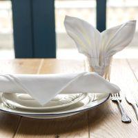 白色缎框口布 纯棉餐饮桌布 五星级酒店西餐厅餐巾餐垫