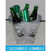 塑料冰桶,亚克力方形啤酒桶,透明四角耐摔红酒香槟桶【工厂价】