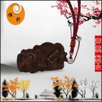 厂家直销越南沉香木雕手把件貔貅抱竹车挂件木质工艺品文玩杂项