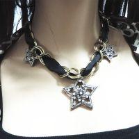 来自星星的你同款五角星星吊坠短款锁骨链 女项链 包邮 明星款