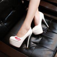 厂家供应2014款红唇防水台细高跟鞋 漆皮糖果女鞋批发代发