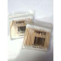高级卫生棉签棉棒 双头木棒抗菌约90~100PCS 化妆棉签 日用品批发