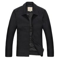 工厂加工定做 直销批发 男装外贸梦特娇夹克外套翻领羊毛茄克衫