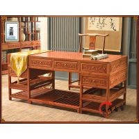 书桌中式实木榆木 办公桌写字台电脑桌 古典大班桌