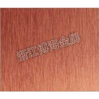 【古铜拉丝不锈钢板】厂家直销真空古铜金拉丝不锈钢板 性价比全网
