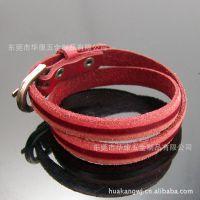 2012日韩流行 多层次缠绕式皮革真皮手链/手镯