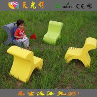 2015畅销款 儿童娱乐场所塑料椅子靠椅 户外休闲彩色儿童家具