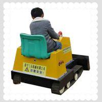 供应新型儿童游乐设备可旋转 广场儿童推土机 前进后退操作简单