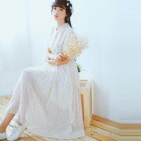 2015夏季新款日韩复古碎花雪纺显瘦中长款连衣裙