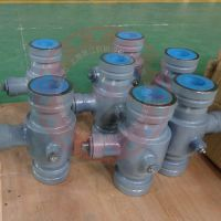 QSJ81C-50Y沟槽砂浆球阀对夹式泥浆输送阀门