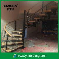 供应阁楼楼梯立柱 楼梯扶手 拉丝 全实木梯面YMD-1126(工程实例)