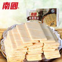 海南特产批发 南国食品 椰香薄饼咸味80g可口感香脆休闲零食饼干