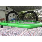 0.5mm PVC Green And Black Inflatable Quad Track For Roller Ball Soccer Zorb Ball