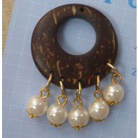 珍珠贝壳吊坠椰壳纽扣服饰配件