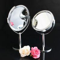 广盈高档金属台式化妆镜 厂家订制小号桌面双面美容梳妆镜 可做LOGO