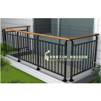 海南海口铝合金木纹色阳台栏杆,古铜色阳台栏杆,锌铜栏杆,别墅区古铜色阳台栏杆,铜铝栏杆