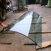 东莞玻璃厂家加工各种弧形玻璃 8mm热弯玻璃 超大型弧形热弯玻璃
