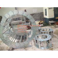 嘉隆直供钢制电缆穿线槽 TL155全封闭机床钢铝拖链 金属拖链