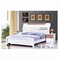 【淘宝分销】特价 1.8米象牙白实木床 现代烤漆双人床 卧室家具
