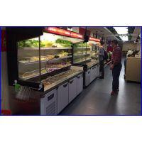 单面开放式麻辣烫冷藏柜 自助火锅保鲜展示柜 扬州定做自选菜品柜