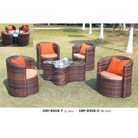 户外休闲藤桌椅咖啡奶茶店面包房桌椅套装 花园庭院别墅桌椅1 4