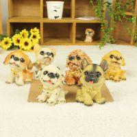 正品6款名犬 优沃创意礼品 树脂工艺品家居装饰品 仿真狗动物摆件