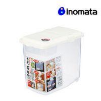 【INOMATA】日本进口米桶10kg 刻度 翻盖米箱 大米收纳桶 1251