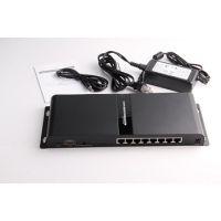 朗强HDMI网线分配延长器一拖8,120米HDMI转8口RJ45延长器