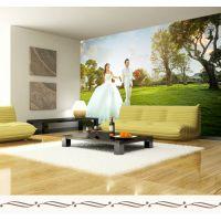 厂家直销大型环保3D壁画无缝墙布电视背景墙纸