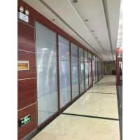 海淀玻璃隔断厂家,办公室玻璃隔断设计,写字楼磨砂单玻,双玻夹百叶玻璃隔断,隔断门安装
