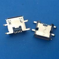 Micro反向(安卓5P)B型反向沉板SMT+dip贴片 四脚沉板 有卷边