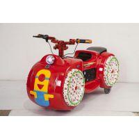 双人座玩具车电动摩托车批发 游乐场新款电动玩具车推荐 儿童玩耍的摩托车价格