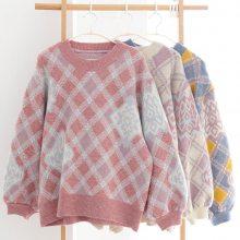 便宜秋季女装毛衣打底衫女装长袖韩版时尚套头圆领毛衣针织衫批发