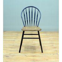 LOFT美式复古创新铁艺家具实木餐椅靠背孔雀椅剑背椅特价餐桌椅子